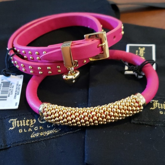 Juicy Couture Jewelry - 2 Juicy Couture leather bracelets